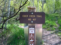 Eider Creek Trail Sign