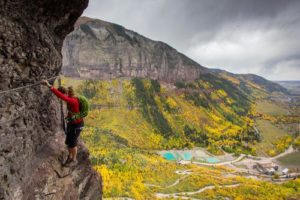 Via Ferrata During the Fall