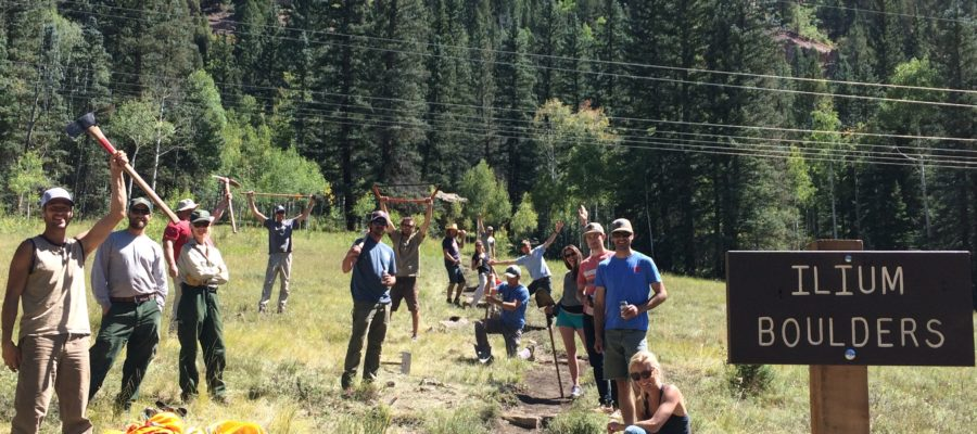 July Ilium Boulders Trail Work Day