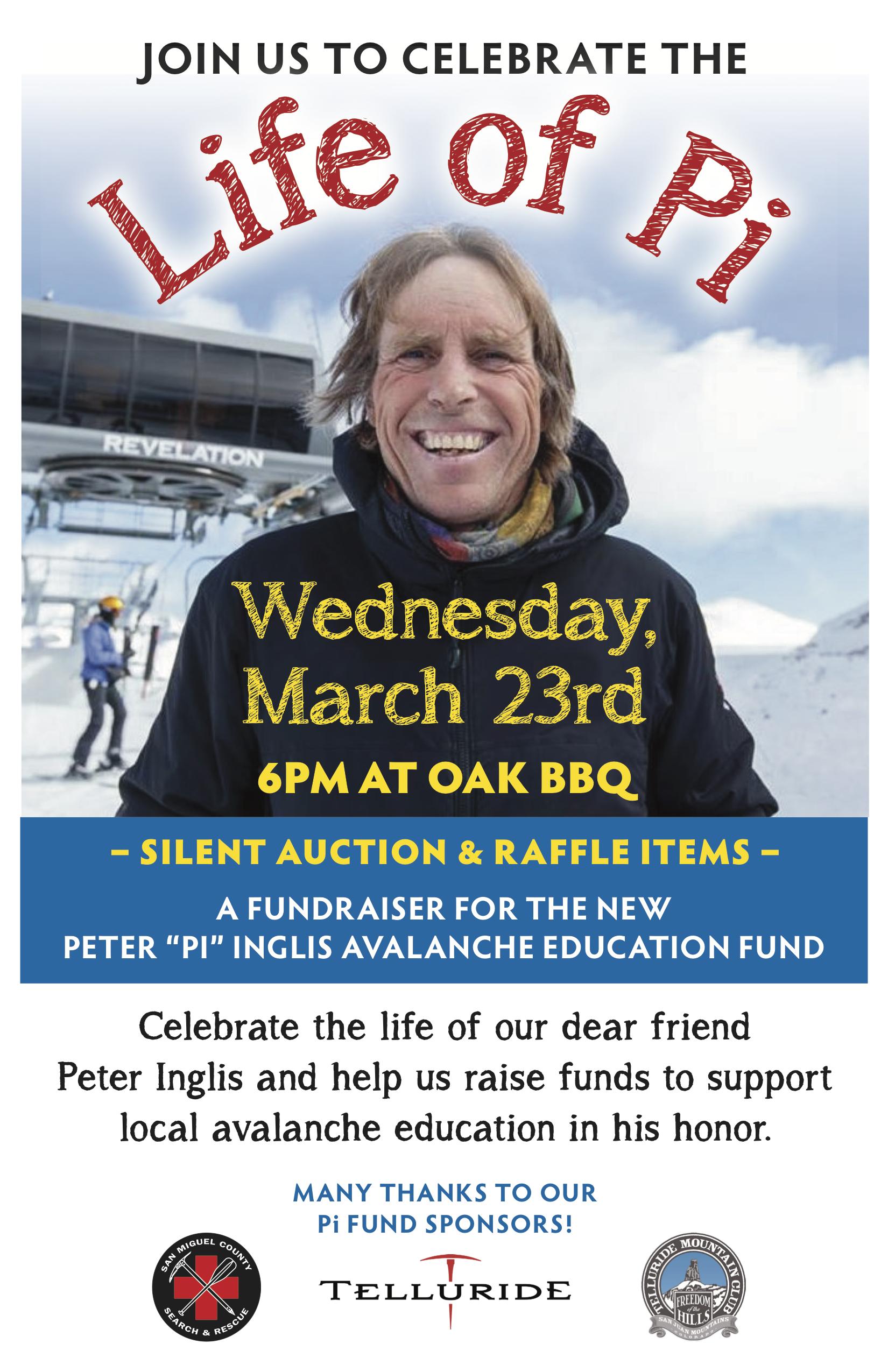 Peter Inglis Memorial Fund Fundraiser Telluride Mountain Club