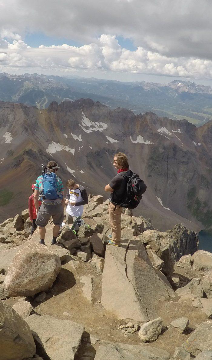 Telluride backcountry hiking mount sneffels